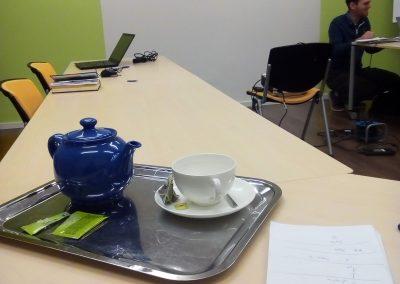Interpreting at an international training in Bratislava.
